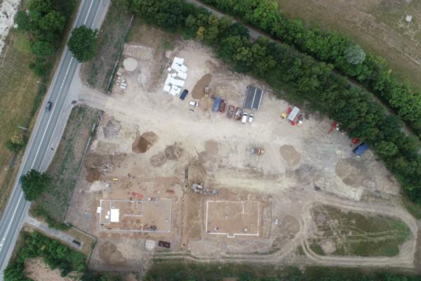 Mosede Landevej Dronefoto At Byggeri