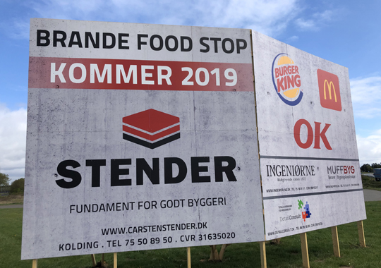 Byggeriet er i gang på Brande Food Stop